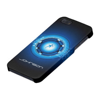 Geek Blue Abstract Hi-Tech Concept - Cool Case For iPhone 5/5S