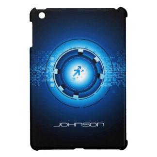 Geek Blue Abstract Hi-Tech Concept - Cool iPad Mini Cases