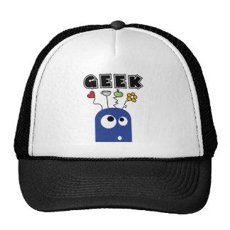 geek blue trucker hat