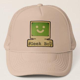 geek boy trucker hat