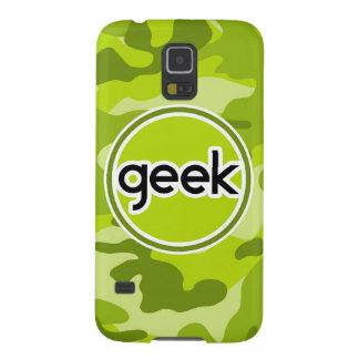 Geek bright green camo camouflage galaxy s5 case