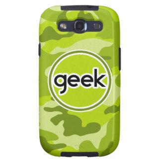 Geek bright green camo camouflage galaxy s3 case