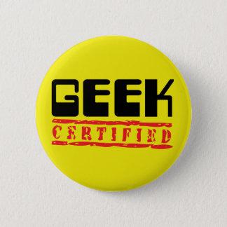 Geek certified 2 inch round button