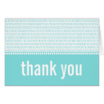 Geek Chic Binary Code Thank You Card, Aqua Note Card