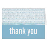 Geek Chic Binary Code Thank You Card, Blue Note Card