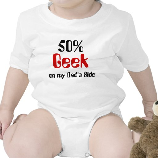 Geek de 50% sur la chemise latérale du bébé du pap body pour bébé