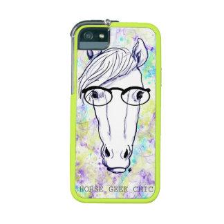 Geek de cheval chic coque pour iPhone  5/5S