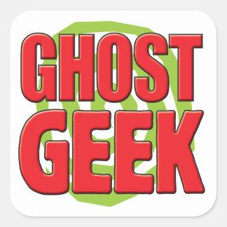 Geek de fantôme stickers carrés