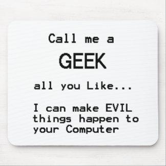 Geek d'ordinateur tapis de souris