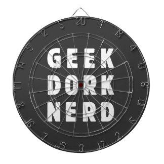 Geek, dork, nerd(and loving it) dartboard with darts