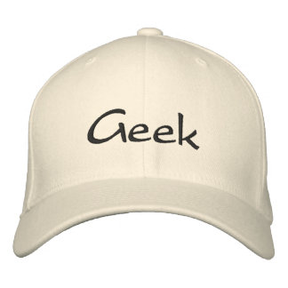 Geek Embroidered Cap