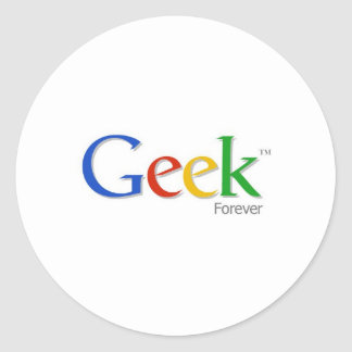 Geek Forever Classic Round Sticker