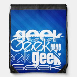 Geek frais ; Rayures bleues royales Sacs Avec Cordons