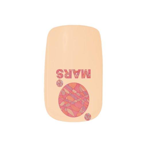 Geek Fun Mars The Red Planet Minx ® Nail Wraps