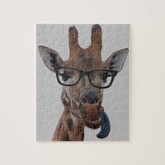 Geek Giraffe Jigsaw Puzzle