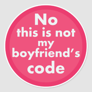 Geek Girl Classic Round Sticker