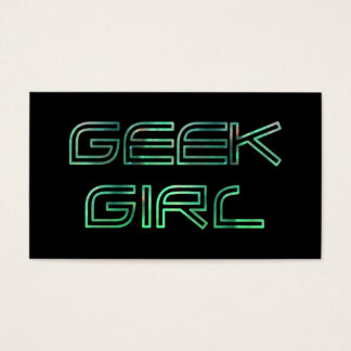 Geek Girl Profile Card