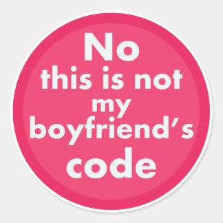 Geek Girl Round Sticker