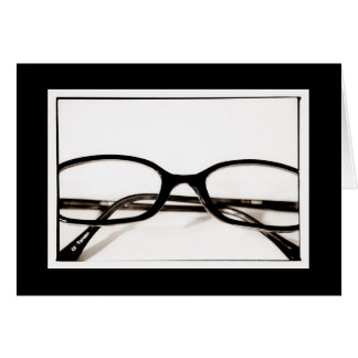 Geek Glasses Blank Card