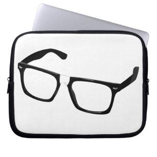 Geek glasses laptop sleeve