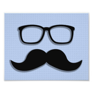Geek Hipster Moustache Glasses Art Photo