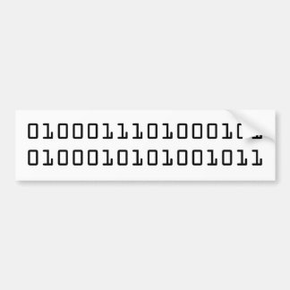 """GEEK"" in binary code Bumper Sticker"