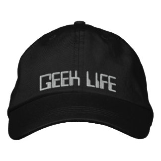 GEEK LIFE EMBROIDERED HATS