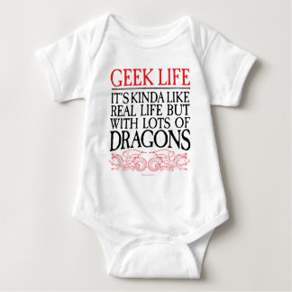 Geek Life With Dragons Baby Bodysuit