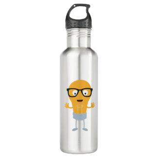 Geek light bulb with glasses Z76fc 710 Ml Water Bottle