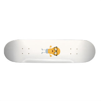 Geek light bulb with glasses Z76fc Skateboard