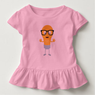 Geek light bulb with glasses Z76fc Toddler T-shirt