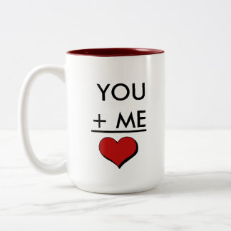 Geek Love Math Two-Tone Coffee Mug