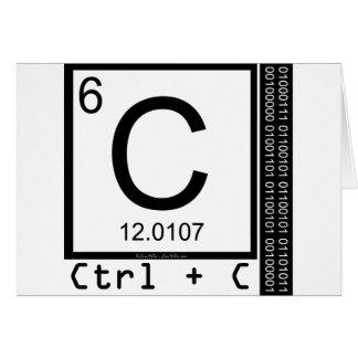 Geek Me! Carbon Copy Card