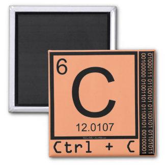 Geek Me! Carbon Copy Square Magnet