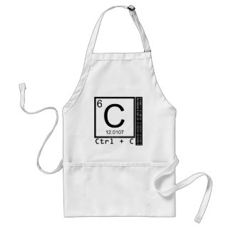 Geek Me! Carbon Copy Standard Apron