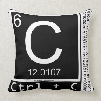 Geek Me! Carbon Copy Throw Pillow
