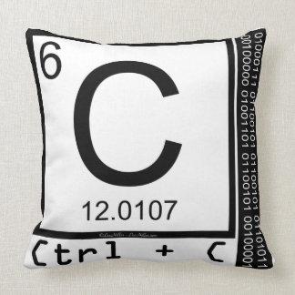 Geek Me! Carbon Copy Throw Pillow