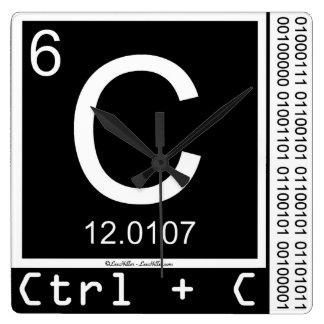 Geek Me! Carbon Copy Wall Clocks
