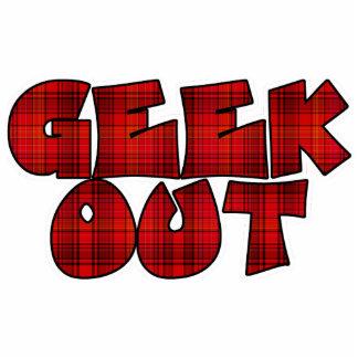 Geek Out Plaid Text Design Photo Cutout