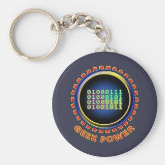 Geek Power Keychain