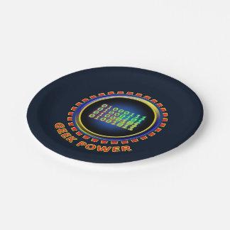 Geek Power Paper Plate