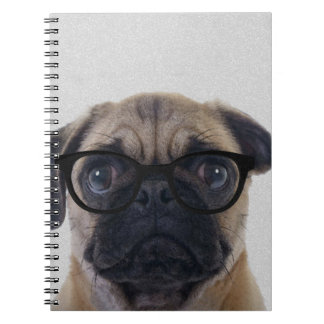Geek Pug Spiral Notebook