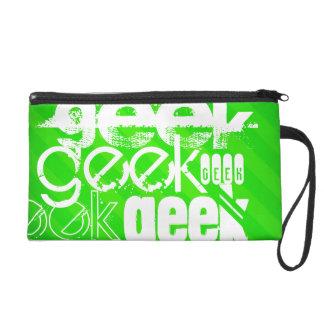 Geek ; Rayures vertes au néon Pochettes Avec Dragonne