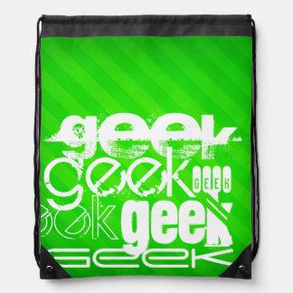 Geek ; Rayures vertes au néon Sac À Dos