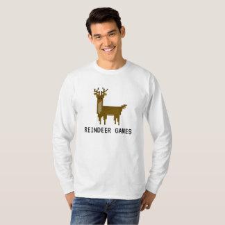 Geek Reindeer Games Pixel Rudolph Holiday Shirt