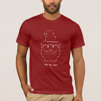 Geek Santa ASCII Art shirt