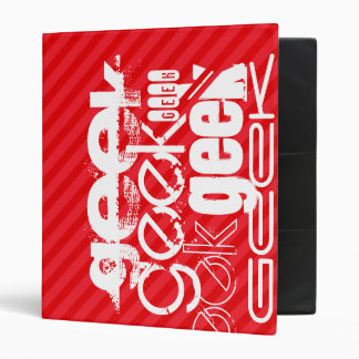 Geek; Scarlet Red Stripes Vinyl Binders