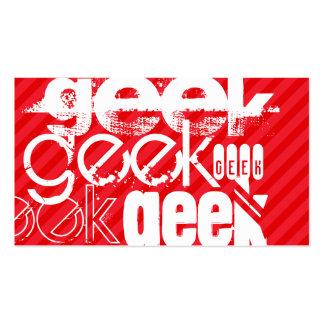 Geek; Scarlet Red Stripes Business Card