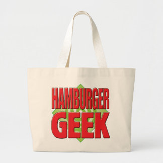 Geek v2 d hamburger sac en toile