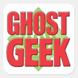 Geek v2 de fantôme autocollants carrés